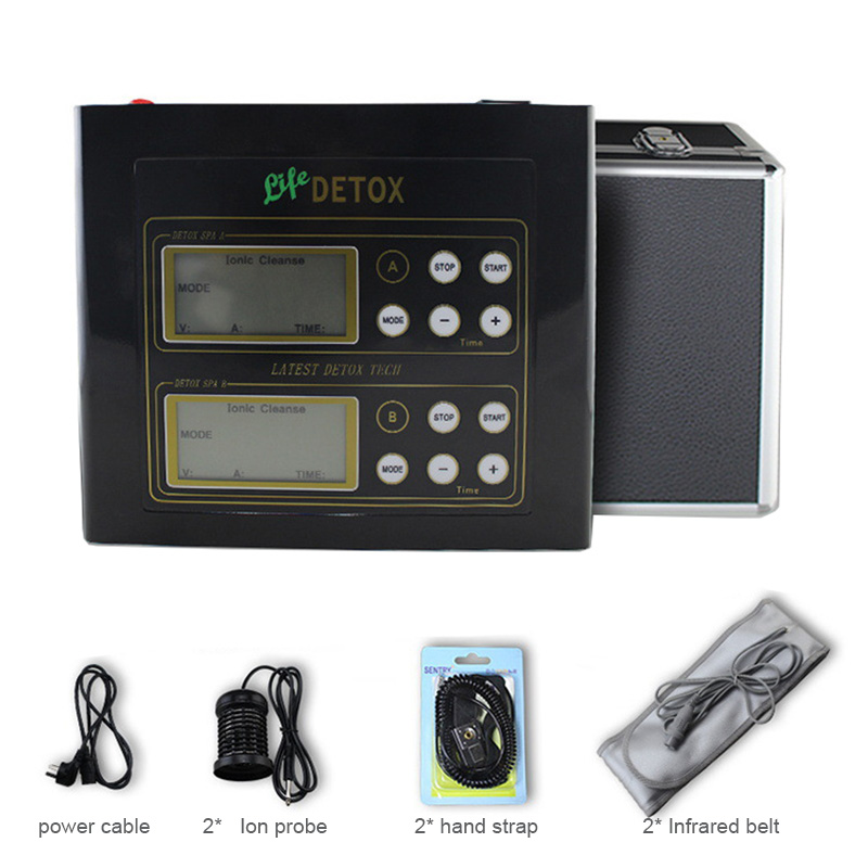 Dual-user Detox Machine Ion Cleanse Ionic Detox Foot Bath Aqua Cell Spa Machine Footbath Far Infrared Massage Detox Foot Bath