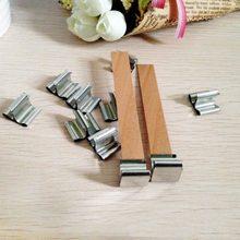 CHUANGGE-mechas para velas, cera de soja de madera saludable, fabricación de velas, al por mayor, 30 Uds.