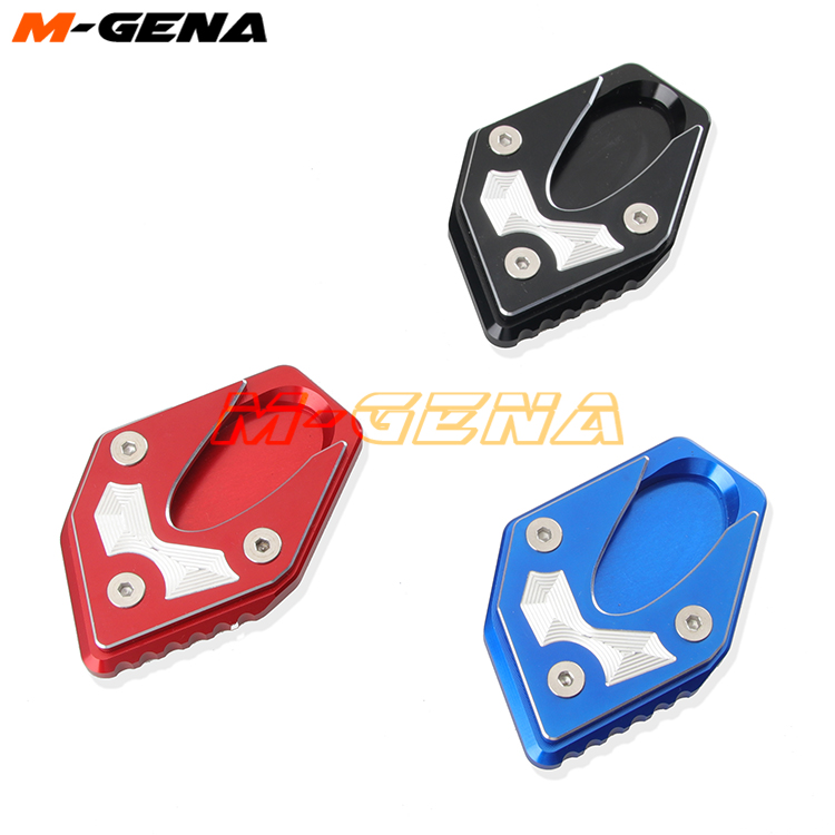 For GW250 Inazuma 2011-2015 GSX250 GSX250R DL250 CNC Side Stand Kickstand Kick Stank Extension Foot Plate Pad Brand New