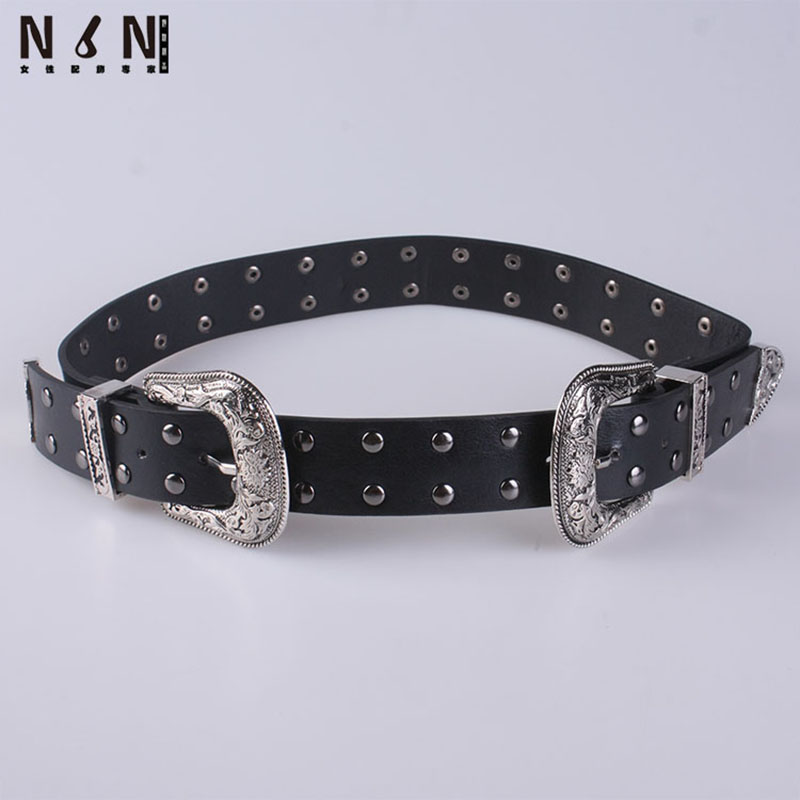 New Fashion Leisure Jeans Rivets Adornment Joker Coat Wide Belt Girl Deserve To Act The Role Of Pin Buckle Belts V315