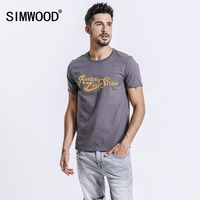 SIMWOOD 2018 Spring Summer Short Sleeve T Shirts Men Fashion Print Tees Slim Fit Plus Size