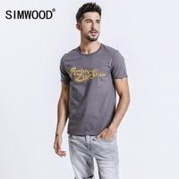 SIMWOOD 2018 Spring Summer Short Sleeve T Shirts Men Fashion Print Tees Slim Fit Plus Size
