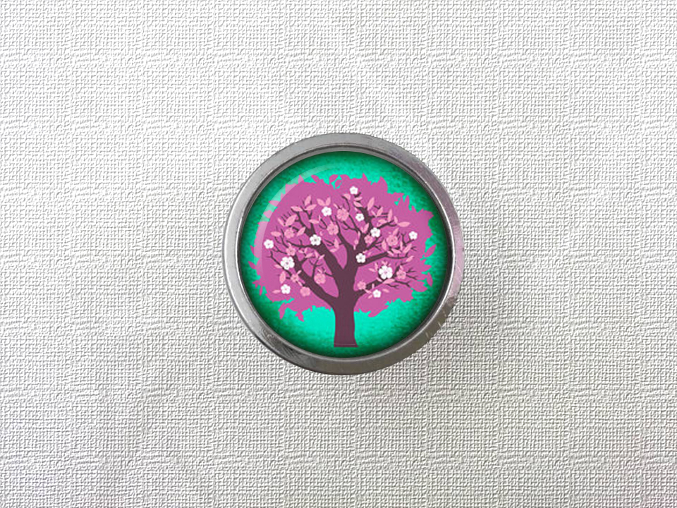 Pink Tree  Drawer Knobs Vintage Style DIY Knobs Copper Sliver Bronze Modern Funiture Door Cabinet Handles Hardware css clear crystal glass cabinet drawer door knobs handles 30mm
