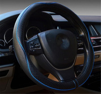 High Quality Leather Auto Car Steering Wheel Cover Comfort Grip For 38cm 15 Vehicle Truck Cushion