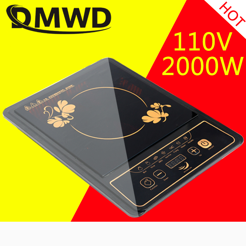 DMWD 110V Electric Magnetic Induction Cooker Waterproof Hot Pot Oven Furnace Cooking Stove Kitchen Hotpot Heater Cooktop 2000W все цены