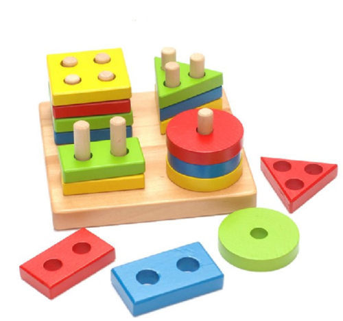 Candice Guo Montessori Child Wooden Geometry Intelligence