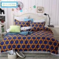 BEST.WENSD Modern minimalist style bedclothes Cotton Black& white striped Plaid 4PC Bedding duvet cover sets king bedding set
