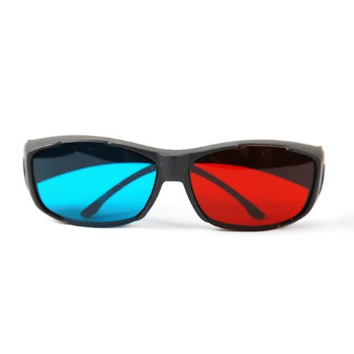 New Plastic Framed Dimensional Anaglyph 3D Vision Glasses Plasma TV Movie