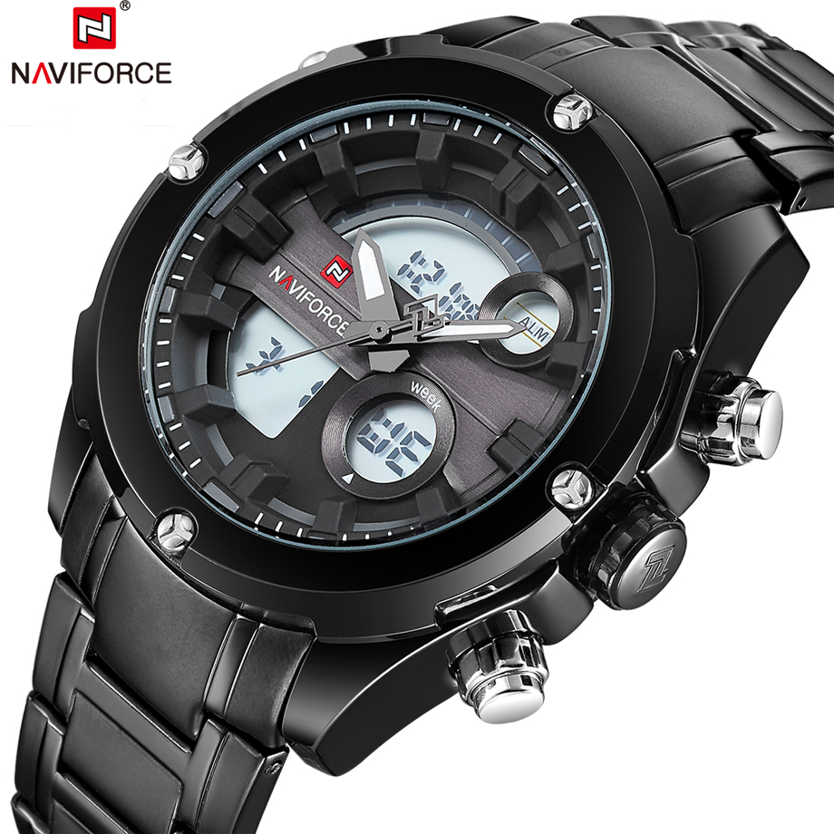 NAVIFORCE Top Brand Luxury Man Watch Mens Quartz Sport Watches Wristwatch Army Military Waterproof Male Clock Relogio Masculino top brand sport men wristwatch male geneva watch luxury silicone watchband military watches mens quartz watch hours clock montre