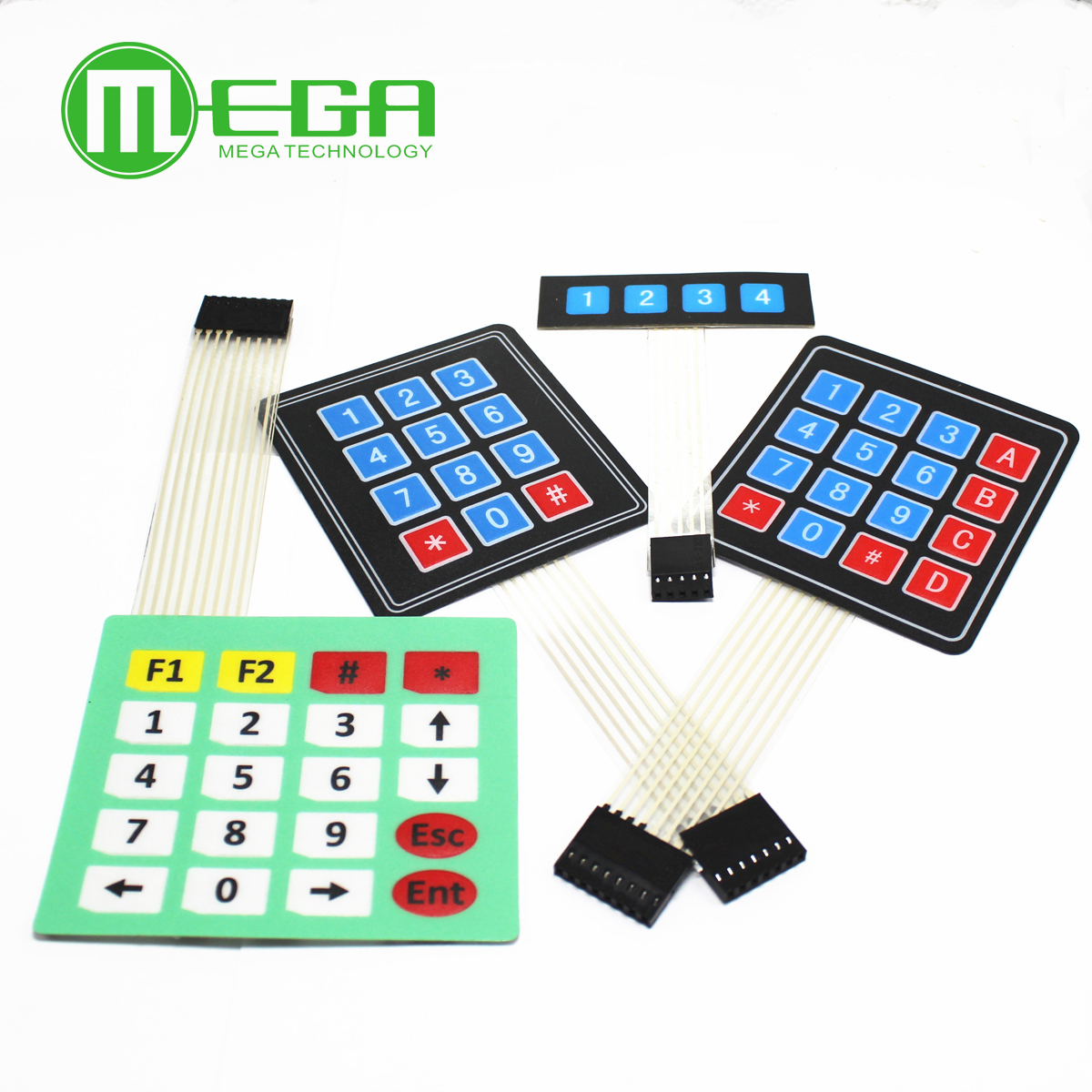 1pcs 4*4 Matrix Array Matrix keyboard 4 <font><b>12</b></font> 16 20 Key 1x4 3x4 4x4 4*<font><b>5</b></font> Membrane Switch Keypad for arduino smart car image