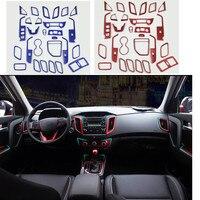 Модификация автомобиля для hyundai ix25 2014 2015 2016 салона автомобиля ABS аксессуары из хрома Стайлинг шестерни/центральной консоли и т. д.