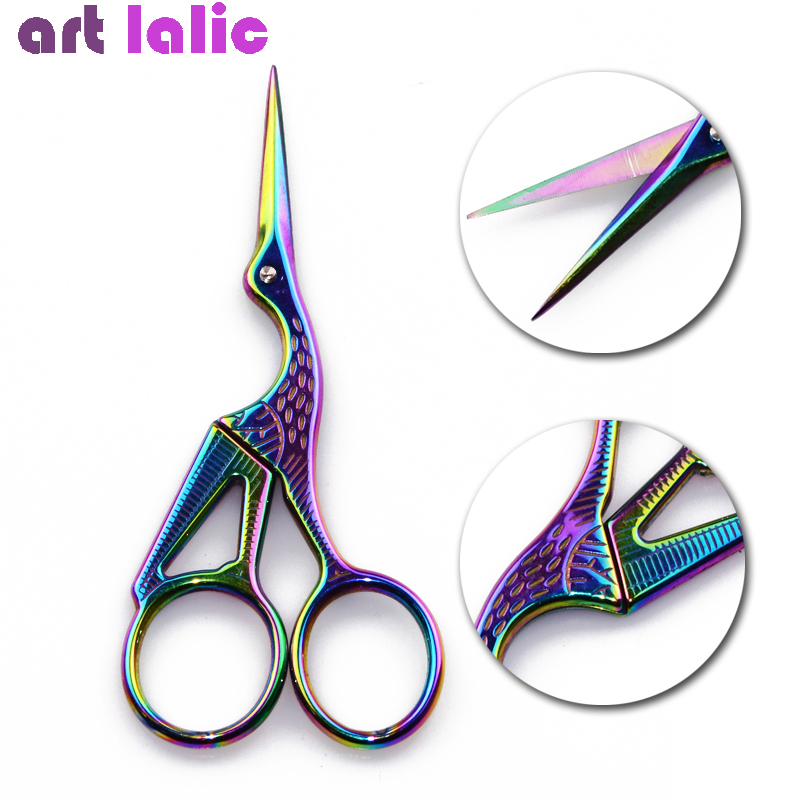 1PC Classic Chameleon Crane Bird Scissors Durable Stainless Steel Manicure Cutter Remover Scissor Nail Cuticle Styling Tool