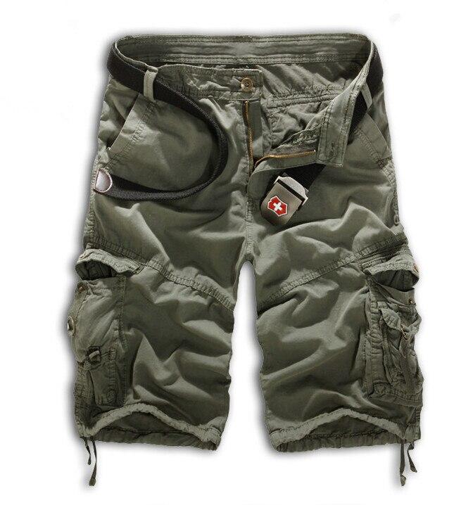 Мужские хлопковые шорты, новинка, мужские модные камуфляжные шорты Карго размера плюс, повседневные камуфляжные шорты с несколькими карманами в стиле милитари - Цвет: Gray iron