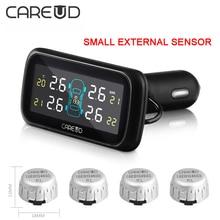Sistema de monitoreo de presión de neumáticos careud digital 12 v profesional en tiempo real alarma con pequeños sensores externos tpms inalámbrica inteligente