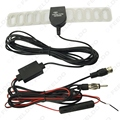 2in1 del coche TV Digital DVB-T FM/Radio Antena Amplificador Booster conector F # FD-897