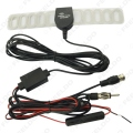 Car TV Digital DVB-T 2in1 FM/Radio Antenna Amp Booster F connector #FD-897