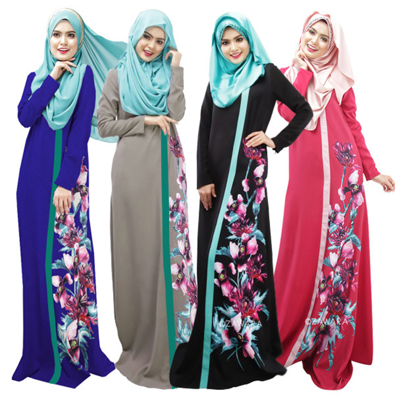 Women Plus Size Print Abaya Jilbab Muslim Maxi Dress Casual Kaftan Long Dress  abaya dubai dress Ladies Vestidos