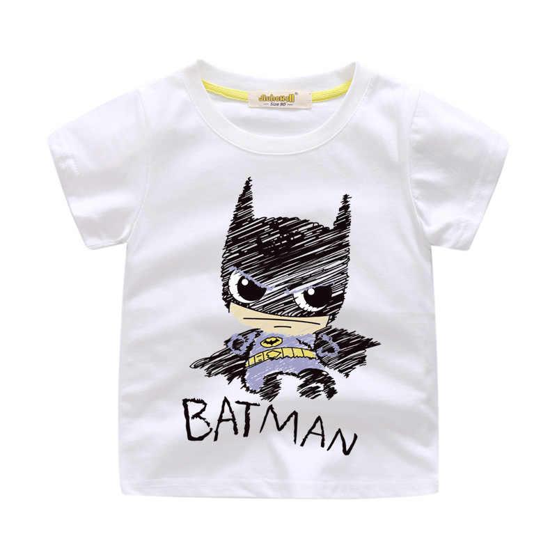 Детская футболка с рисунком Бэтмена, костюм для детей, летняя футболка, одежда детская одежда футболки для мальчиков и девочек WJ062