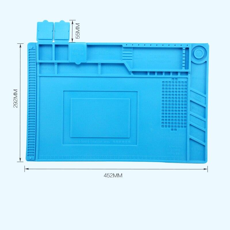 Купить с кэшбэком Pinkman ESD Heat Insulation Silicone Soldering Pad Mat Desk Maintenance Platform For Repair Phone Computer Station With Magnetic