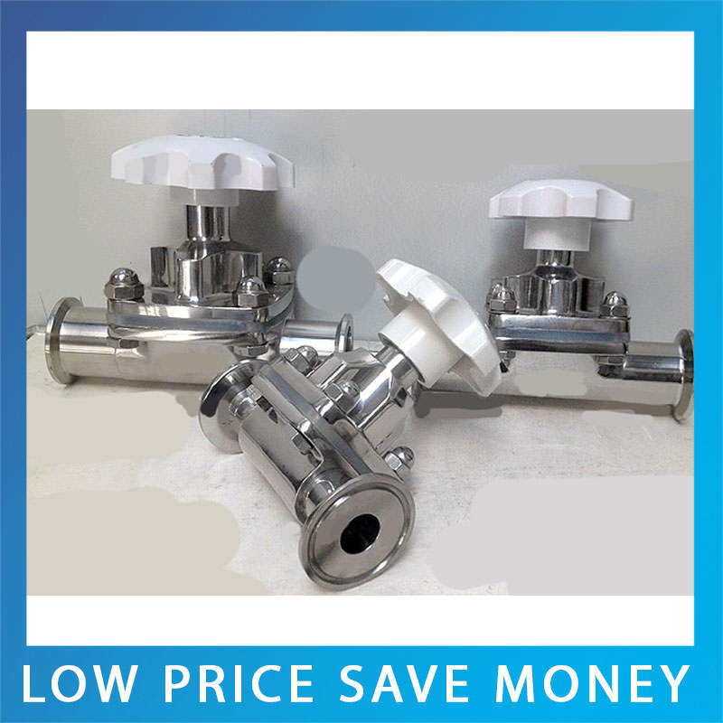 DN51 High Quality Stainless Steel Manual Diaphragm Valve ss316l stainless steel sanitary pneumatic manual diaphragm valve with epdm seal sdgmf 40e