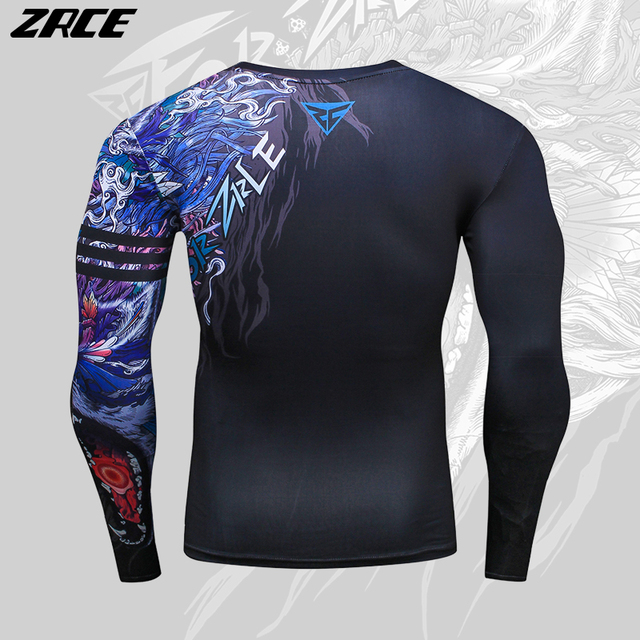 ZRCE 2017 Costume 3d Two Piece Set Wolf Cosplay Plus Size Skinny Men Compression Jerseys Funny T Shirt Fashion Full Men Suits 4