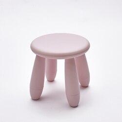 2018 nueva silla de niños PUF Poire Taburetes Silla de estilo nórdico Taburetes de plástico zapatos de Taburete muebles que contienen moderno