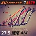 Kinesis TA529 BIN mountainbike rahmen 27 5 zoll * 650b rahmen 142*12 barrel axle rahmen mountainbike zubehör-in Fahrradrahmen aus Sport und Unterhaltung bei