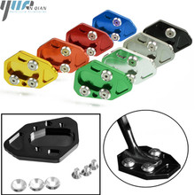 Moto Accessories Kickstand CNC Enlarge Extension Side Stand Plate Screw Pad for BMW F800R 09 15 HP2 SPORT 08 10 R1200S 06 08