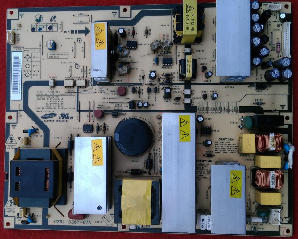 LA40R71B LT40R71B power panel IP-230135A CS61-0267-07A is used 42pfl9509 power panel 2300kpg109a f is used