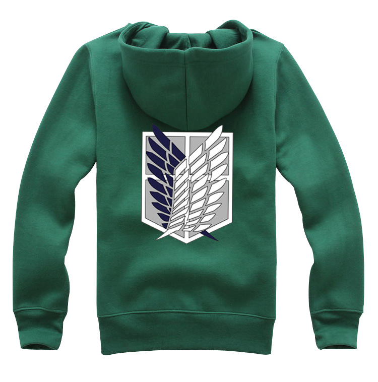 Attack on Titan Sweater Allen Freedom Wing Green Male Sweatshirt