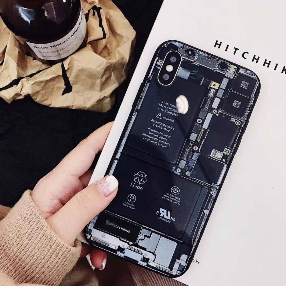 luxury machismo mechanical drawing mobile phone housing for iphone 8 8plus novelty circuit diagram manly phone back covers cases in fitted cases from  [ 1000 x 1000 Pixel ]