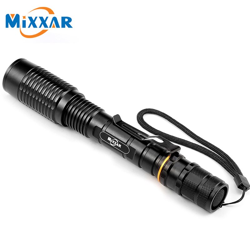 CZK10 LED Flashlight V5 T6 8000LM 5-Modes Zoom Torch tactical flashlight Lamp Lantern can be used with two 18650 batteries