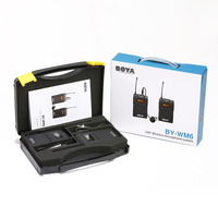 BOYA BY WM6 UHF Wireless Microphone For DSLR Video Camcorder Microphone Portable Professional Omnidirectional Lavalier Lapel Mic