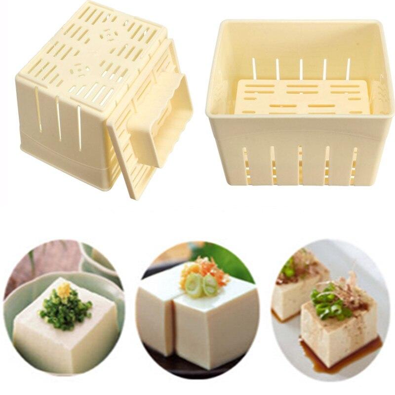 Tofu Press Set DIY Homemade Tofu Maker Soy Kit Plastic Mould + Press + Chess Clothes Soybean Curd Making Machine Kitchen Tools