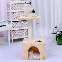 Сизаля игрушки кошки гнездо кровать лазалки Скребут Дерево лестница дом любимчика Роскошные мебель игры домашних животных поставляет 70Z1561