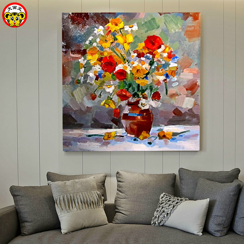 Painting By Numbers Art Paint By Number DIY Digital Painting European Oil Painting Flower Plant Flower Painting Fill Color Livin