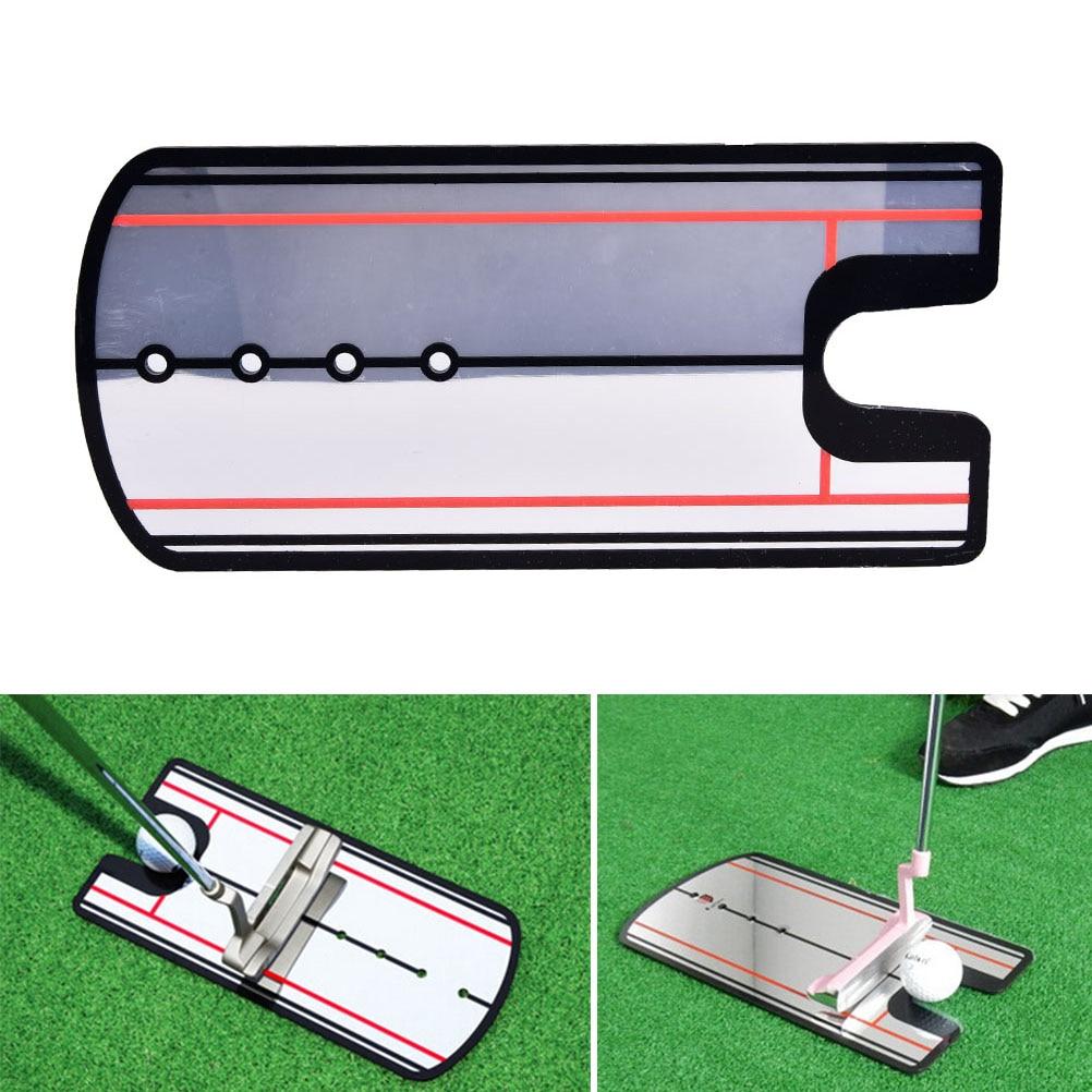 1pc Brand New Golf Putting Mirror Golf Swing Practice Putting Mirror Alignment Training Aid Eye Line Golf Accessories 145*310mm