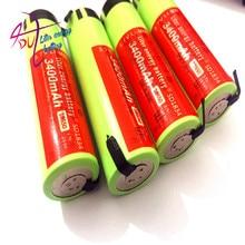 4 Ncr18650b pçs/lote Litro Bateria De Energia 100% Novo Original 3.7v 3400mah Bateria De Lítio Recarregável Baterias Diy Folha de Níquel