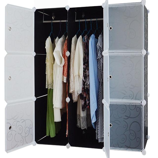 Resin Wardrobe Simple IKEA Single Children Combination Folding Cloth  Wardrobe Shipping Large Plastic Storage Cabinet