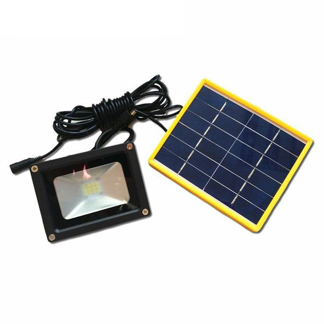 Waterproof Solar Powered LED Street Flood Light With 5M Wire+2200mA Battery  Use In Outdoor