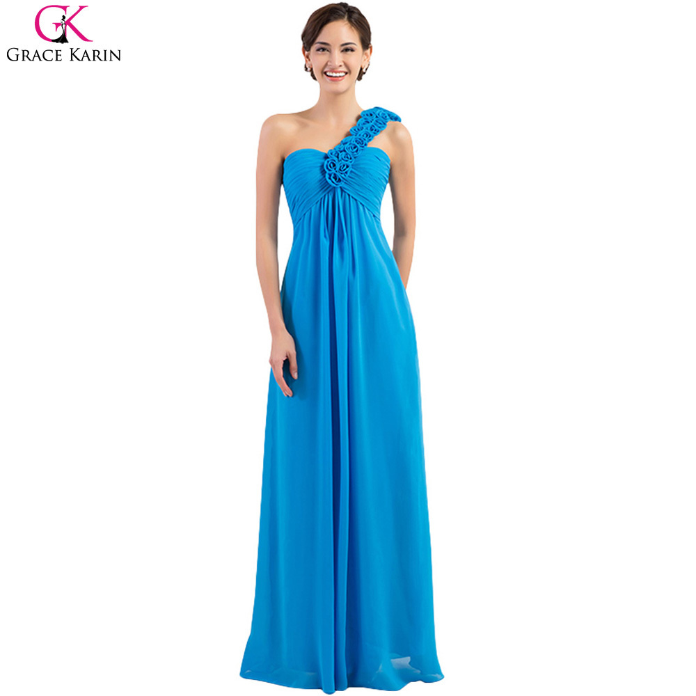 Grace karin one shoulder turquoise blue long bridesmaid dresses a grace karin one shoulder turquoise blue long bridesmaid dresses a line red gray yellow plus size cheap bridesmaid dress 2017 in bridesmaid dresses from ombrellifo Image collections