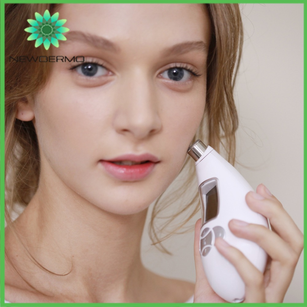 White NEWDERMO Professional Portable Diamond Microdermabrasion Skin Care Tools Peeling Skin Massage SPA-in Face Skin Care Tools from Beauty & Health    1