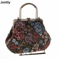 2018 Women Beading Evening Bags New Vintage Women Handbag Ethnic Style Tote Fashion Female Party Bag Women Messenger Bag LI 1400