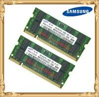 Samsung 2GB 2x1GB PC2 5300 DDR2 667 Laptop Memory 1G 200 Pin SO DIMM RAM Notebook