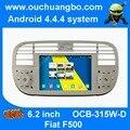 Ouchangbo S160 plataforma autoradio dvd del coche para Fiat 500 color blanco con buil WIFI android 4.4 sistema de navegación gps