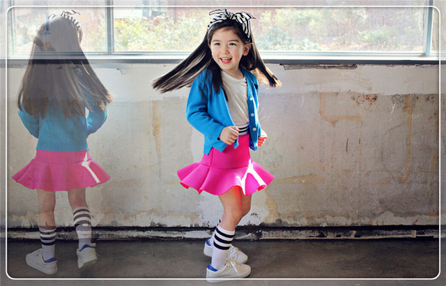 Girls Spacewadding Ruffles Skirts Amber Berry for 7-15Y High Quality Free Shipping