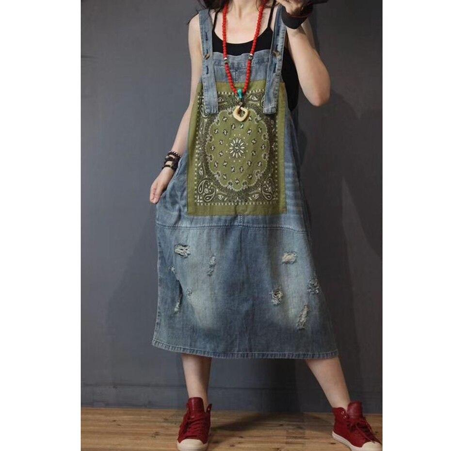 Spaghetti sangle Denim robe mode pour les femmes lâche grande taille surdimensionné mignon Vintage été printemps 80455