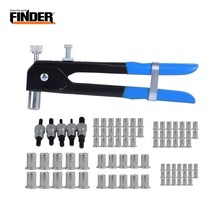 FINDER 86pcs Heavy Hand Riveters Rivet Nut Gun Set Threaded Blind Insert Riveting Kit Nail Household Repair Tool Screw Home DIY