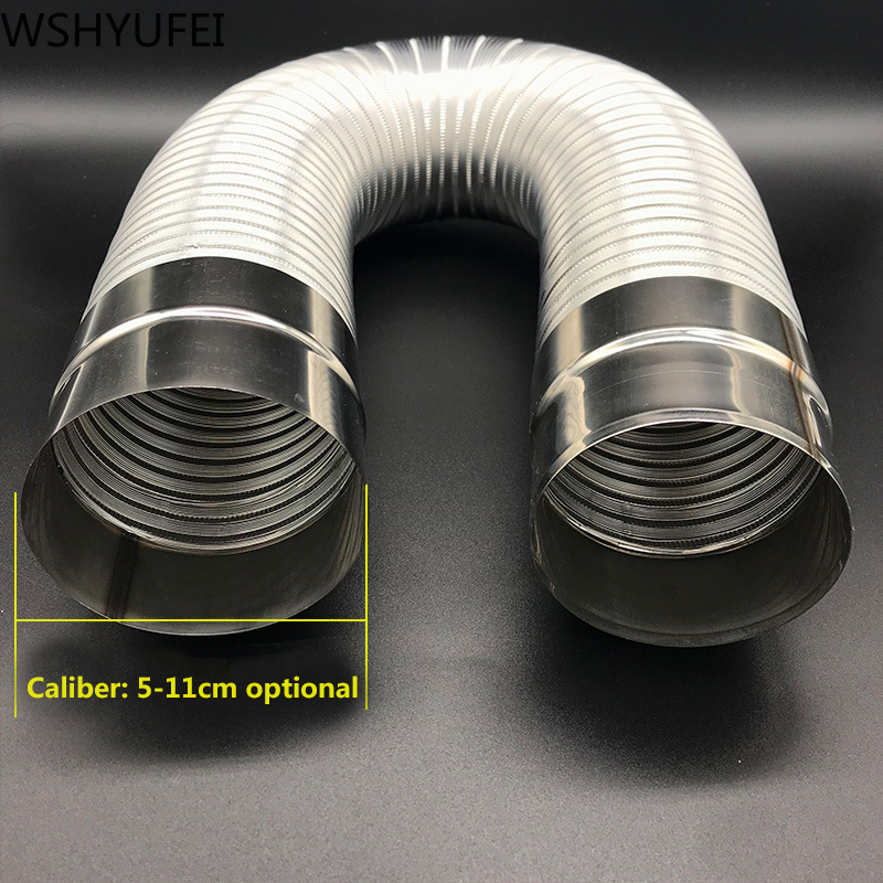 Water-Heater Stainless-Steel Exhaust-Pipe/extension-Tube-Length Aluminum Fireproof Gas