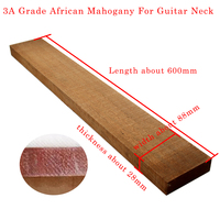AAA Grade African Mahogany For Guitar Neck High Quality Wood DIY Handmade Guitar Accessories 600*88*28mm